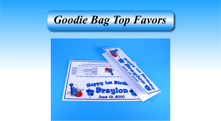 Personalized Goodie Bag Tops