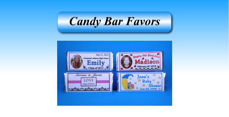 candy bar wrapper favors