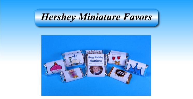 Miniature Chocolate Wrapper favors