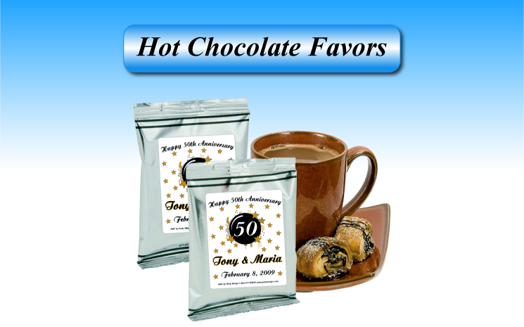 Personalized Hot Chocolate Pack favors