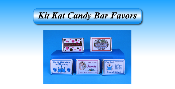 Kit Kat candy bar wrapper favors